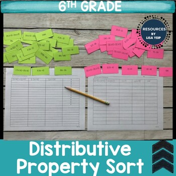 Distributive Property Hands-On Sorting Activity
