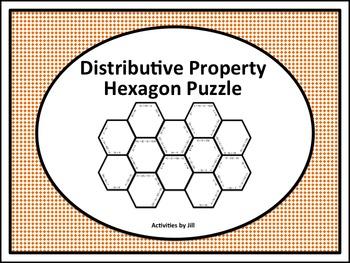 Distributive Property Hexagon Puzzle
