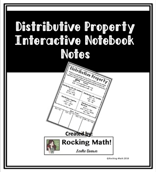 Distributive Property Interactive Notebook Notes