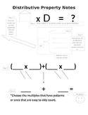 Distributive Property Interactive Notes