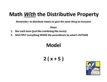 Distributive Property Introduction Lesson
