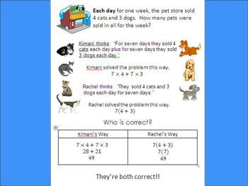 Distributive Property Intro ~ Notes + Worksheet ~ Common Core 6.NS