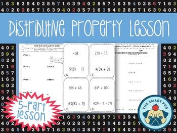 Distributive Property Lesson Plan