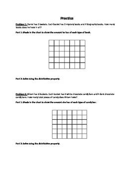 Distributive Property Lesson and Practice