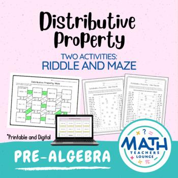 Distributive Property: Line Puzzle Activity