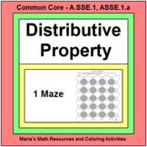 DISTRIBUTIVE PROPERTY: MAZE