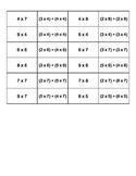 Distributive Property Match 3rd Grade