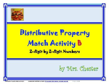 Distributive Property Match Activity B