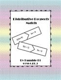Distributive Property Match Up- CCSS 6.EE.3