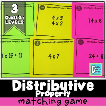 Distributive Property Match-Up Cards