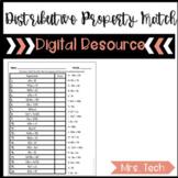 Distributive Property Matching Activity - Digital Resource