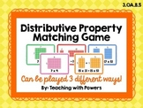 Distributive Property Matching Card Game