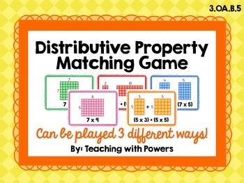 Distributive Property Matching Card Game