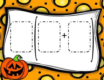 Distributive Property Math Center - Halloween Themed
