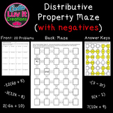 Distributive Property With Negatives - 2 Mazes