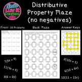 Distributive Property No Negatives 2 Mazes Great Math Review for end of year