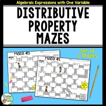 Distributive Property Maze Activity with Integers