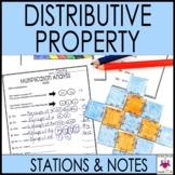 Distributive Property Math Stations  :  Middle School Math