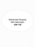 Distributive Property Mini Task Cards