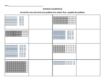 Distributive Property Model Sort