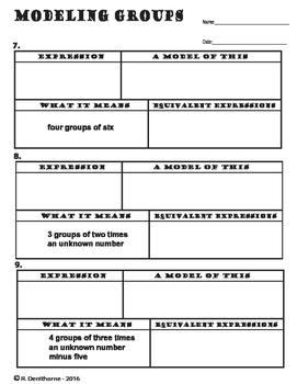 Distributive Property - Modeling & Writing