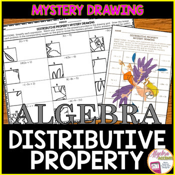 Distributive Property Mystery Drawing