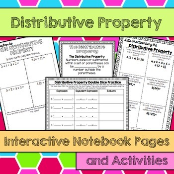 Distributive Property Interactive Notebook