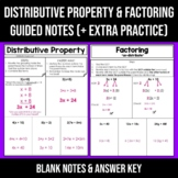 EDITABLE Distributive Property Note Sheet