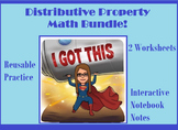 Distributive Property Notes, Worksheets, and Activity