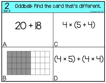 Distributive Property Oddball Sets