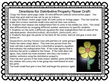 Distributive Property Of Multiplication, Spring Flower Math Center & Craft
