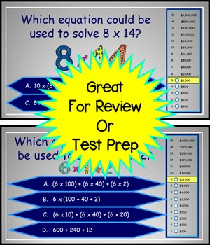 Distributive Property/Other Ways to Multiply Power Point Millionaire Game 4th Gr