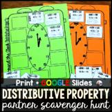 Distributive Property Partner Scavenger Hunt Activity - pr