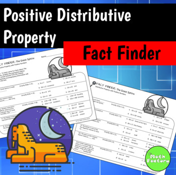 Distributive Property (Positive Only) Fact Finder