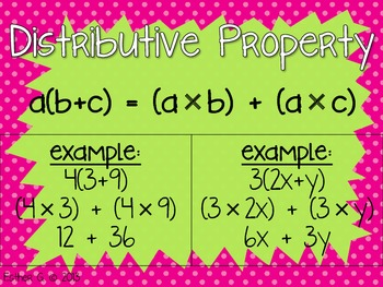 Distributive Property Poster