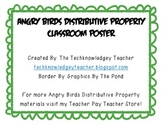 Distributive Property Poster - Angry Birds