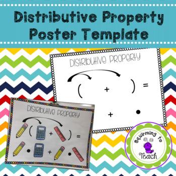Distributive Property Poster Template