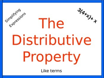 Distributive Property Power Point and Handouts