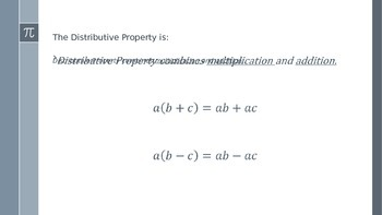 Distributive Property PowerPoint Notes
