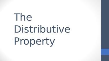 Distributive Property PowerPoint (PPT)