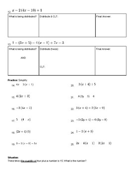Distributive Property Practice