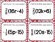 Distributive Property Practice (+/- Fractions) Task Cards