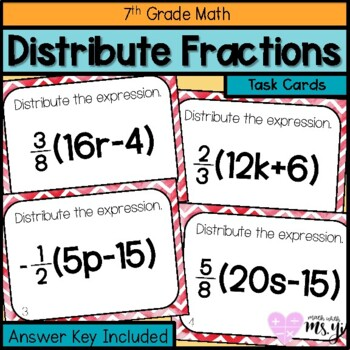 Distributing Fractions Worksheets & Teaching Resources | TpT