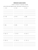 Distributive Property Beginning Level Practice Worksheet/ Handout Common Core