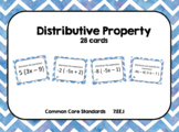 Distributive Property Practice with Negatives Task Cards
