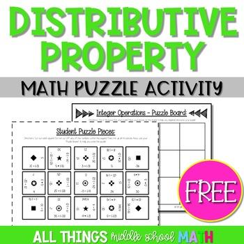 Distributive Property Puzzle Activity