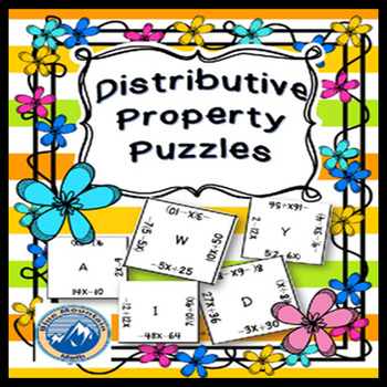 Distributive Property Puzzle Set
