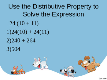 Distributive Property Quick Warm-up