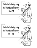 Distributive Property Review Activity - Doctor Theme