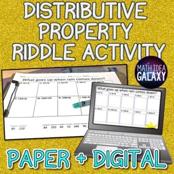 Distributive Property Riddle Activity
